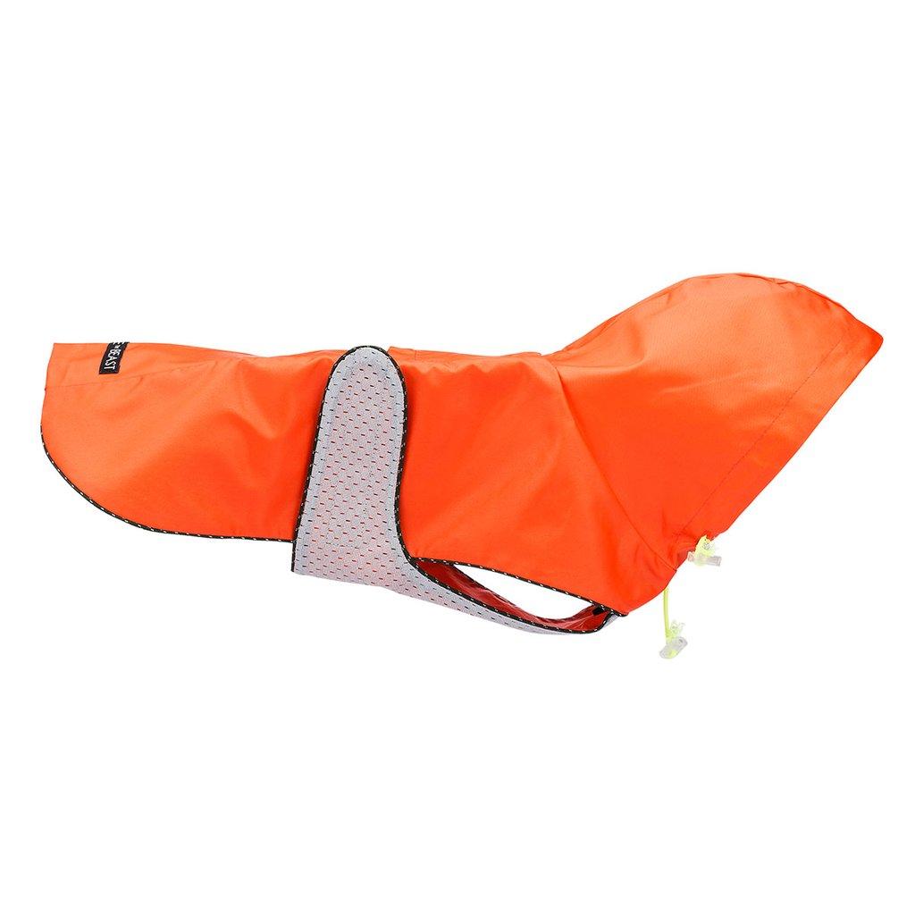 LoveThyBeast ラブ・ザイ・ビースト メッシュライニング付き・ナイロンレインジャケットカラー: オレンジ サイズ 8号・10号 犬 レインコート 海外直輸入品 ネコポス便対応