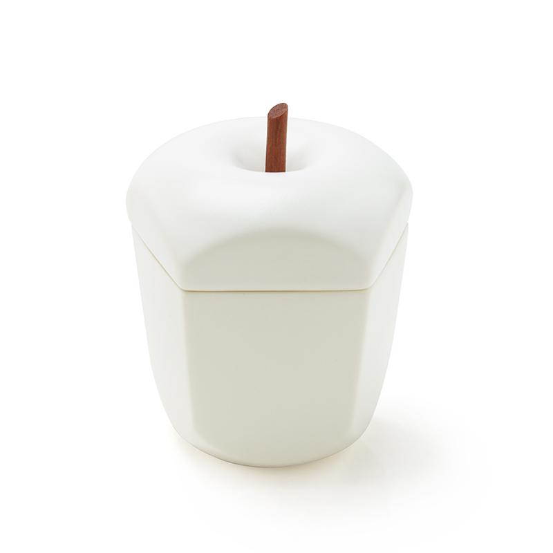 おしゃれなシュガーポット タツヤオカザキ セラミック 別倉庫からの配送 デザイン Made in スピード対応 全国送料無料 Japan Sugar pomme design pot ceramic ポムttyokzk リンゴの形のシュガーポット -
