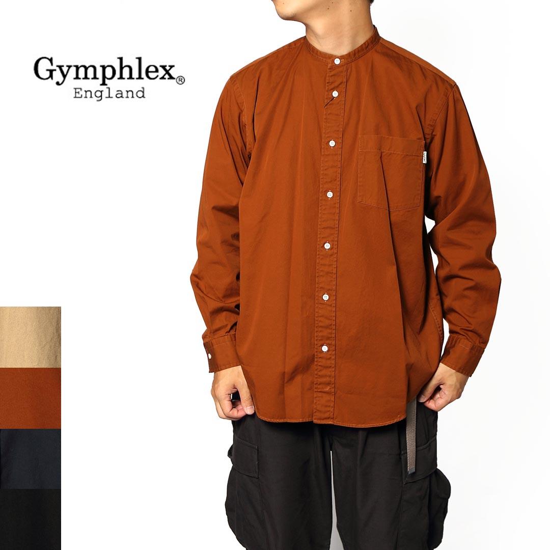 メンズ/Gymphlex/ジムフレックス/バンドカラーシャツ/品番:J-1352VTW
