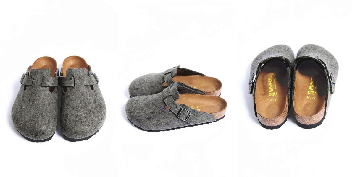 ◇Men's Lady's BIRKENSTOCK ビルケンシュトック Boston Boston article number: 160363 (width narrow) 160361 (wide) gray
