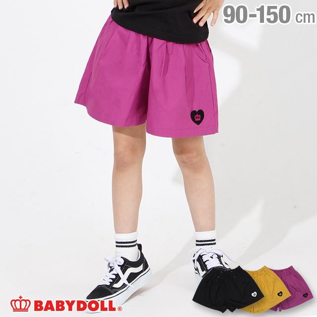 半ズボン ショートボトム# 50%OFF アウトレットSALE 通販限定 ハート 刺繍 ご予約品 3777K BABYDOLL 新品未使用 ベビードール キッズ ベビー 女の子 キュロット