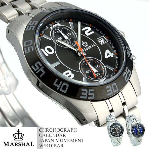 マーシャル メンズ腕時計 クロノグラフ MRZ003 MARSHAL 送料無料