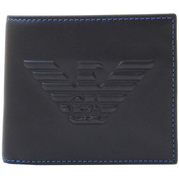 エンポリオアルマーニ EMPORIO ARMANI 二つ折り財布 2つ折り財布 メンズ Y4R167 YG90J 81072//Y4R167-YG90J-81072【新品】