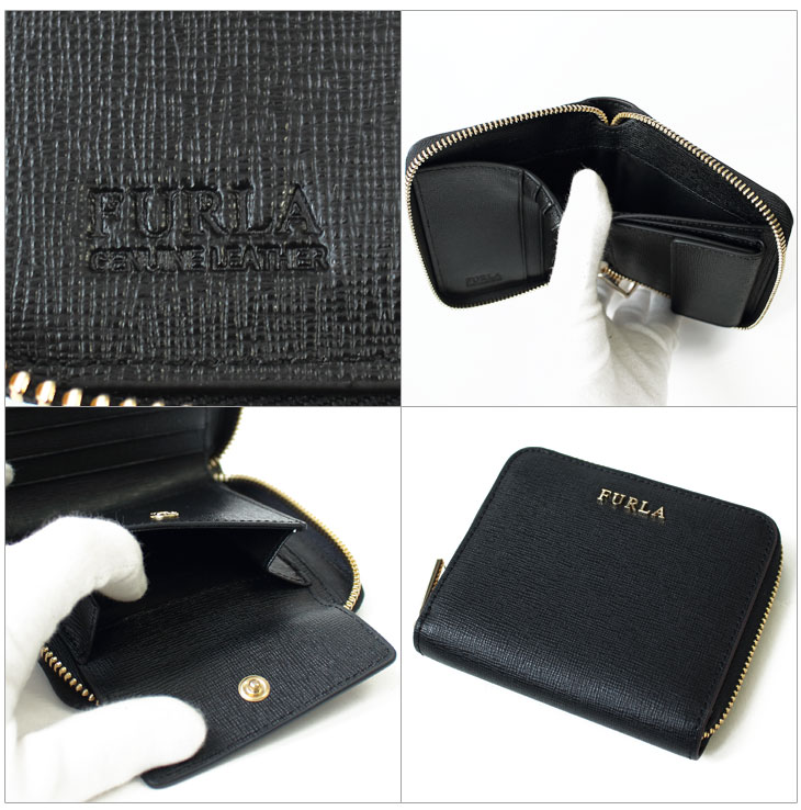 財布 【BABYLON】 レディース バビロン 二つ折り財布 ブラック PR84 B30 O60 FURLA フルラ