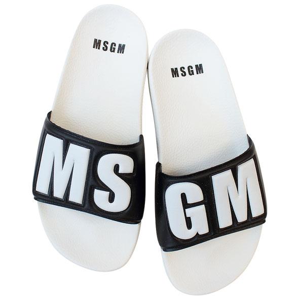 MSGM エムエスジーエム レディースビーチサンダル シャワーサンダル 2641MDS15100 300 99//2641MDS15100-300-99【新品】