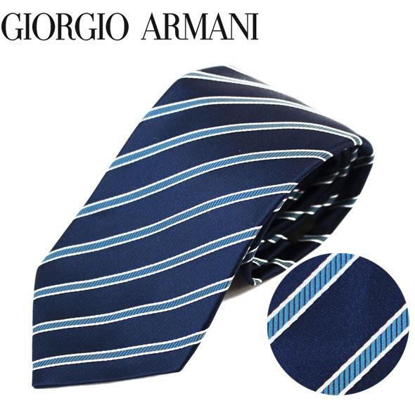 ジョルジオアルマーニ GIORGIO ARMANI ネクタイ レギュラータイ ストライプ 2018年新作 360054 8P920 00133//360054-8P920-00133-HC【新品】