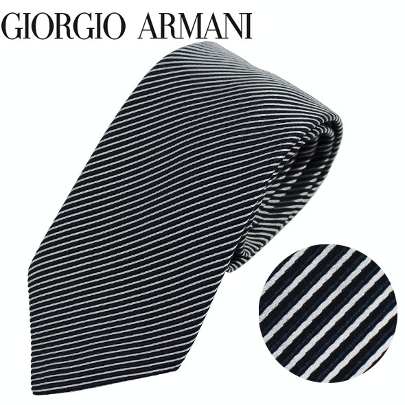 ジョルジオアルマーニ GIORGIO ARMANI ネクタイ レギュラータイ ストライプ 2019年春夏新作 360054 9P918 00036//360054-9P918-00036-HC【新品】