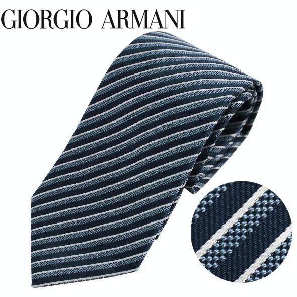 ジョルジオアルマーニ GIORGIO ARMANI ネクタイ レギュラータイ ストライプ 2019年春夏新作 360054 9P920 17433//360054-9P920-17433-HC【新品】