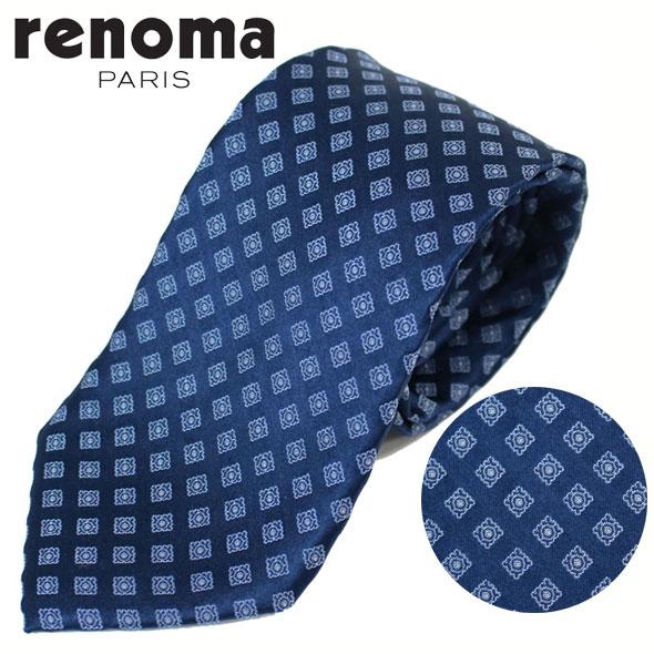レノマ renoma ネクタイ レギュラータイ シルク 小紋 50 2L 47574 12//50-2L-47574-12-HC【新品】