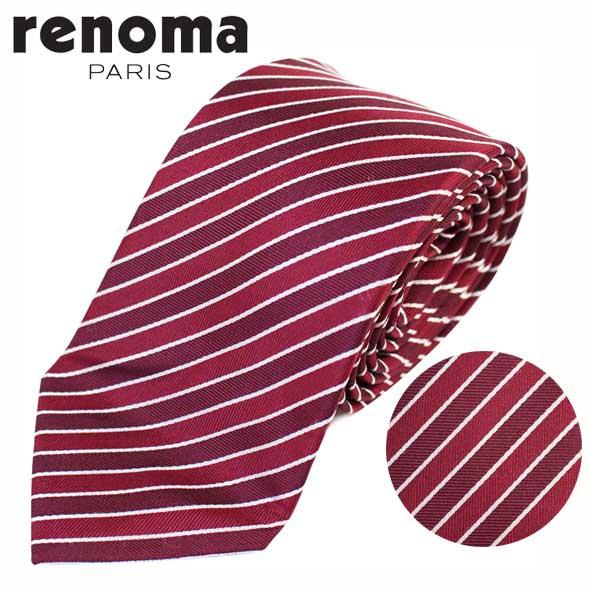 レノマ renoma ネクタイ レギュラータイ シルク ストライプ 51 2R 47507 3//51-2R-47507-3-HC【新品】