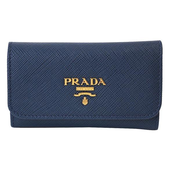 プラダ PRADA 6連キーケース 1PG222 SAFFIANO METAL BLUETTE//1PG222-SM-BLUETTE【新品】