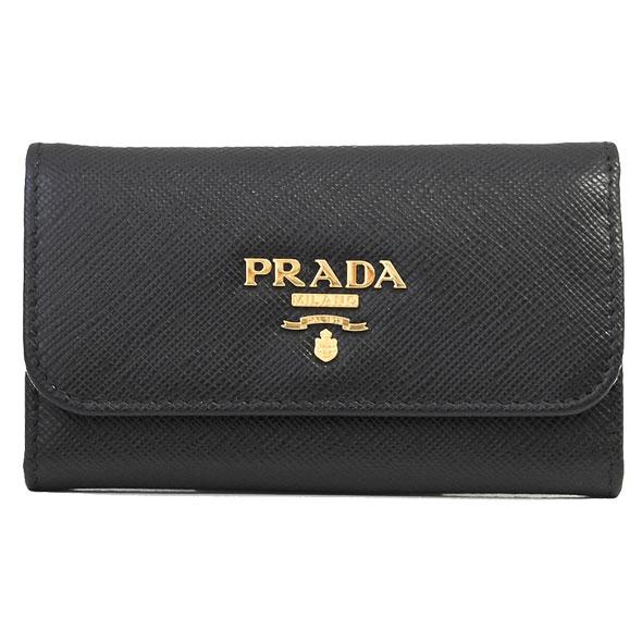 プラダ PRADA 6連キーケース 1PG222 SAFFIANO METAL NERO//1PG222-SM-NERO【新品】