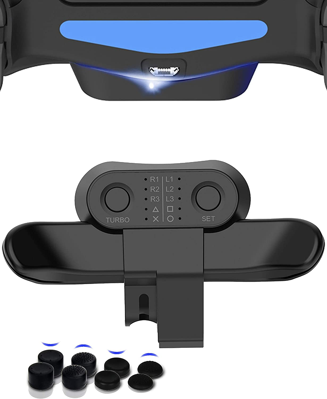 COWBOX PS4 DUALSHOCK4 専用 安全 背面ボタンアタッチメント 背面パドル Slim Proコントローラー用 背面アタッチメント COWBOX特製強化版 安全 機能ボタンのマッピング 機能 ターボ 送料無料 日本語取扱説明書付 TURBO 連射