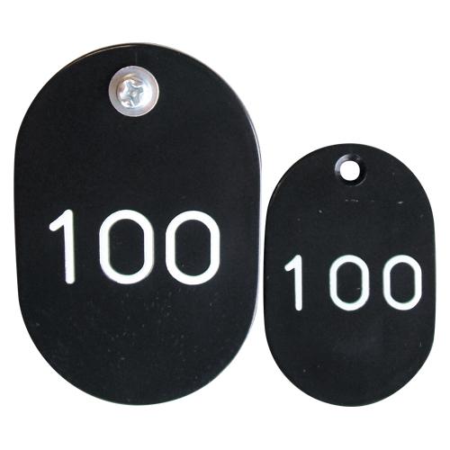 クラウン AL完売しました。 PP親子札2枚組ポリプロピレン番号入連番 CR-PY100-B 好評受付中
