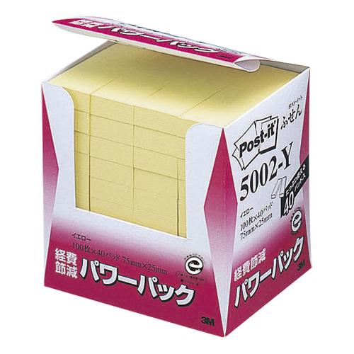 スリーエム 定番から日本未入荷 経費節減再生紙パワーパック 40個入 5002-Y 即納最大半額