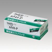スリーエム 宅配便送料無料 ポストイット再生紙エコノパック 定番から日本未入荷 6541-P ピンク