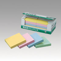 スリーエム マーケット ポストイット再生紙エコノパック 6541-K 年間定番 混色