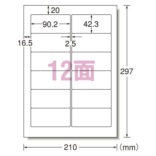 エーワン パソコンラベルNEC12面 (31152)