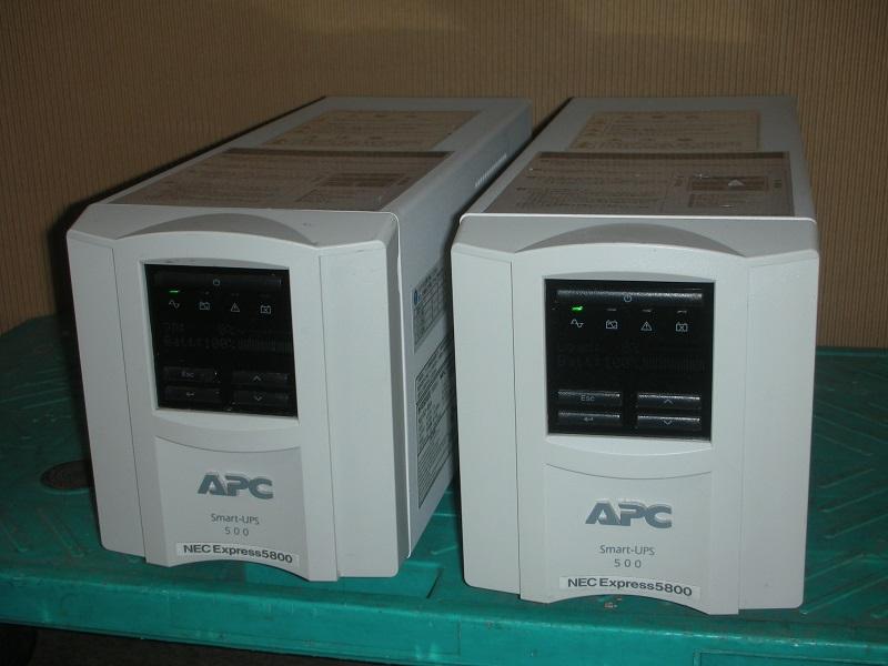 【中古】使用可能な中古電池に交換済み!小型タワー型 UPS/NEC・APC Smart-UPS 500 LCD [NMT500J]