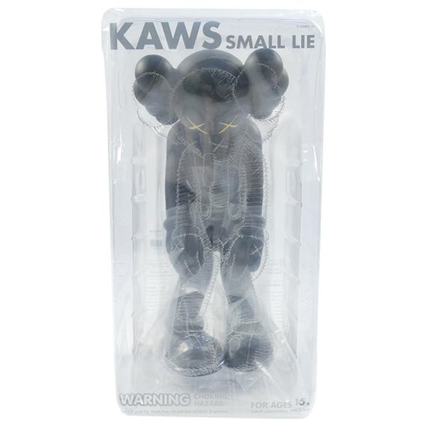 KAWS カウズ ×MEDICOM TOY メディコムトイ SMALL LIE フィギュア 黒 Size【フリー】 【新古品・未使用品】