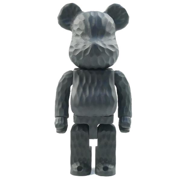 MEDICOM TOY メディコムトイ ×Fragment Design×カリモク BE@RBRICK 400% carved wooden フィギュア 黒 Size【フリー】 【新古品・未使用品】