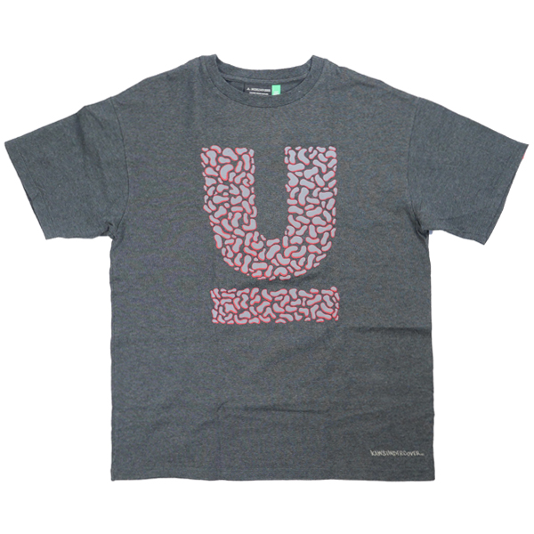 UNDERCOVER アンダーカバー ×KAWS 2000SS UロゴTシャツ 濃灰 Size【M】 【中古品-良い】【中古】