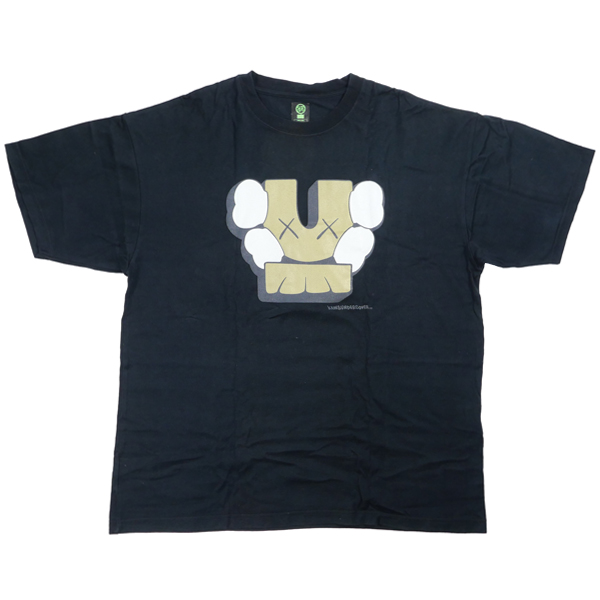 UNDERCOVER アンダーカバー ×KAWS 2001SS Tシャツ 黒 Size【XL】 【中古品-良い】【中古】