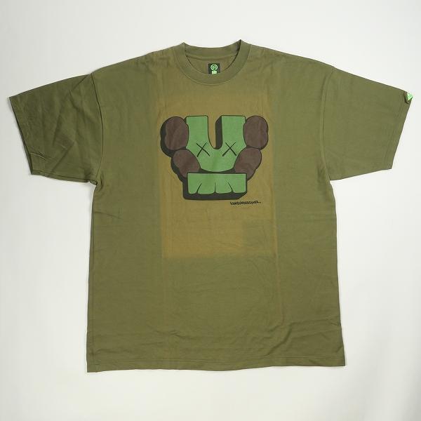 UNDERCOVER アンダーカバー ×KAWS 2001SS Tシャツ オリーブ Size【XL】 【中古品-非常に良い】【中古】