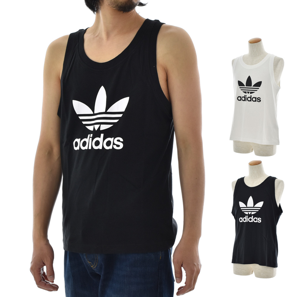 adidas originals Trefoil Aop Tank tops Black Men´s clothing