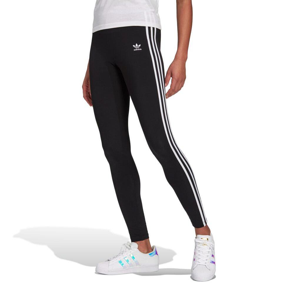 Adidas originals adidas originals jersey 3 stripe tights leggings Lady's spats jersey lower ????????????????????????? ADICOLOR ???????????????????