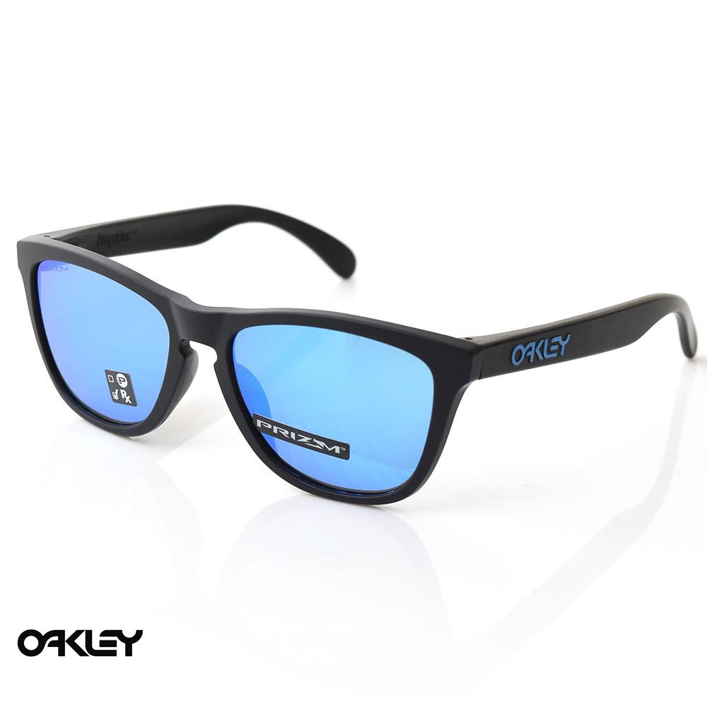 【7%OFFセール】オークリー OAKLEY サングラス フロッグスキン FROGSKINS OO9245-6154 ブループリズムレンズ【マットブラック フレーム プリズムサファイア ミラーレンズ メガネ 眼鏡 アジアフィット ジャパンフィット】 メンズ