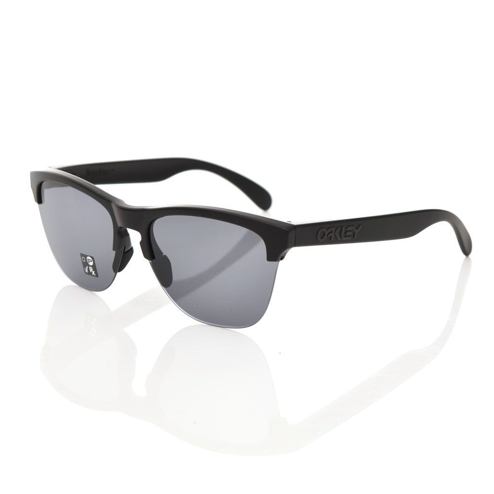 オークリー OAKLEY サングラス フロッグスキン ライト メガネ めがね 眼鏡 メンズ レディース UVカット 紫外線 マットブラックフレーム グレーレンズ FROGSKINS オークレイ オークレー ハーフリム OO9374-0163