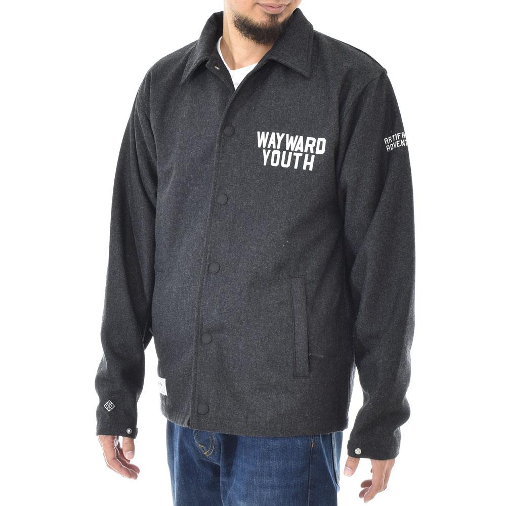 【40%OFFセール】ロアーク リバイバル ROARK REVIVAL ジャケット メンズ メルトン コーチジャケット アウター コート チャコール グレー 灰色 ストリート ウール M L WAYWARD YOUTH MELTON COACHES JACKET RJJ455