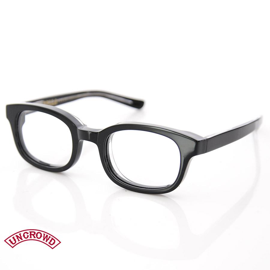 アンクラウド UNCROWD サングラス HELLA UC-001 ブラックフレーム クリアレンズ【ブルコ BLUCO サングラス 眼鏡 伊達メガネ バイカーシェード アイウェア】 メンズ