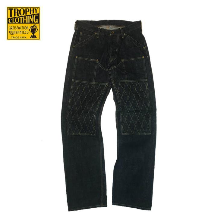 TROPHY CLOTHING【トロフィークロージング】スタンダード ダブルニーデニムパンツ 1606 W Knee Standard Dirt Denim