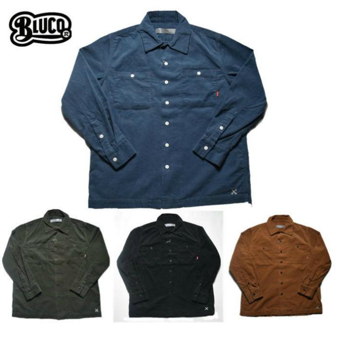 BLUCO 【ブルコ】 コーデュロイ ワークシャツ OL-109C-017 CORDUROY WORK SHIRTS L/S