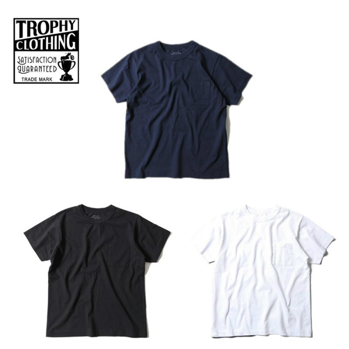 TROPHY CLOTHING トロフィークロージング Tシャツ  Open End Crew Tee OD Volume Cotton Pocket Tee 無地