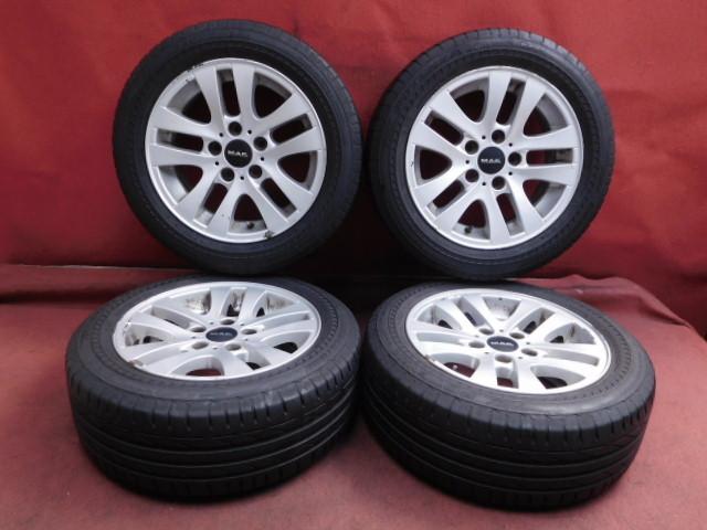 【中古】【S121】セット4本*BMW 3シリーズ 純正 16×7J 5穴 PCD 120 +34 205/55R16 ブリジストン POTENZA S001 RFT ランフラット