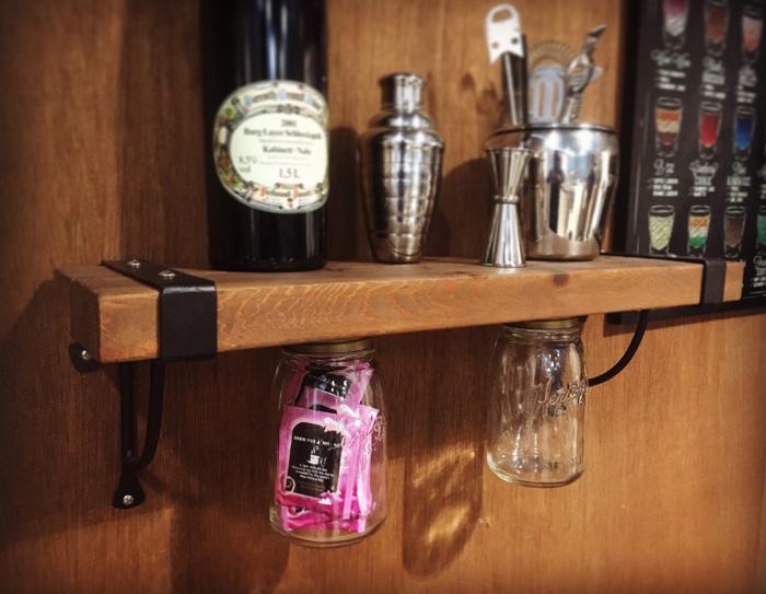 STEEL BELT オリジナル シェルフ カスタム レッドシダー ウッド 無垢 アイアン家具 ウエスタン 住宅 インテリア雑貨 おしゃれ雑貨 男前インテリア 棚 ガレージ 店舗 ディスプレー 収納 瓶 W600xD180