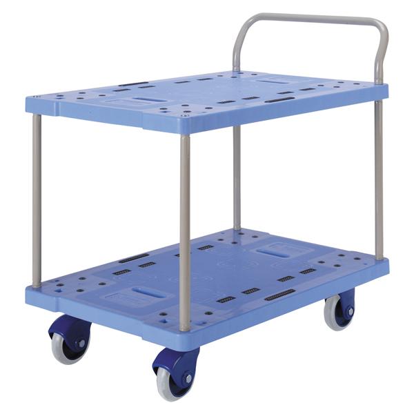 300kg荷重/ 微音樹脂ハンドブレーキ台車 金沢車輌/ PHB-300GS