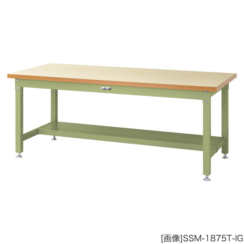 ヤマテック 作業台 スーパータイプ/メラミン天板【36mm】 [表示寸法:W1200×D750×H740] グリーン購入法適合商品【お客様組立品】