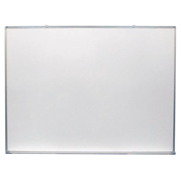 ホワイトボード 無地 [サイズ:W1200×H900mm] 壁掛け式ホワイトボード 仕様:片面 ホワイト 無地 マグネット マーカー付き【完成品】
