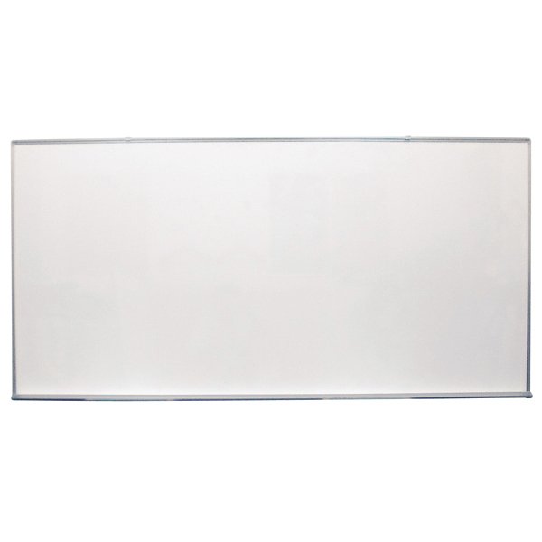 ホワイトボード 無地 [サイズ:W1800×H900mm] 壁掛け式ホワイトボード 仕様:片面 ホワイト 無地 マグネット マーカー付き【完成品】