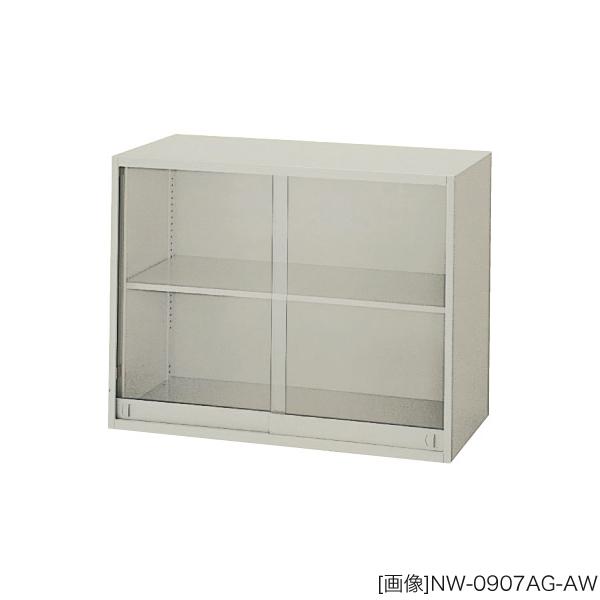 システム収納庫:NWSタイプ ガラス引違い書庫 棚板耐荷重:等分布55kg 外寸法:幅(W)89.9×奥行(D)40×高さ(H)70cm ラッチ機構付き 自重(28.0)kg グリーン購入法適合商品