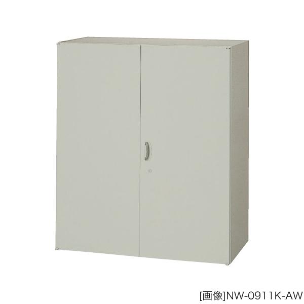 システム収納庫:NWSタイプ 両開き書庫 棚板耐荷重:等分布55kg 外寸法:幅(W)89.9×奥行(D)40×高さ(H)105cm ラッチ機構付き インジケーターキー 自重(33.0)kg グリーン購入法適合商品