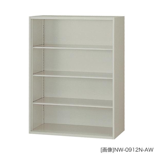 システム収納庫:NWSタイプ オープン書庫 棚板耐荷重:等分布55kg 外寸法:幅(W)89.9×奥行(D)40×高さ(H)120cm 自重(33.0)kg グリーン購入法適合商品