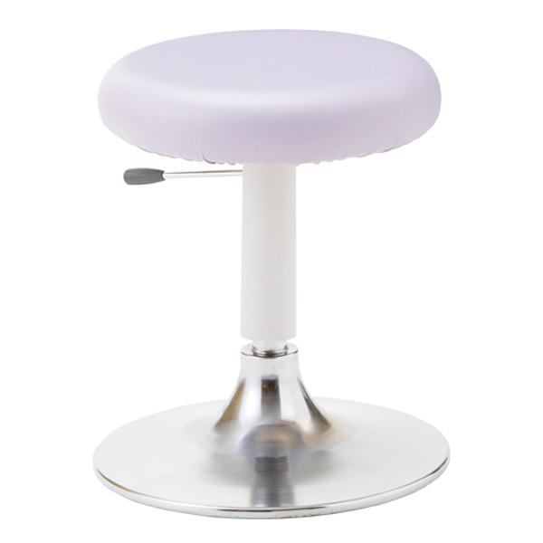 オフィスチェア(事務椅子)ソフトスツール 作業用チェア 厚手クッション レザー張り 外寸法:W40×D×Hcm 座高:46~55cm 座高ガス上下調節 モールドウレタン座 自重(5.7)kg