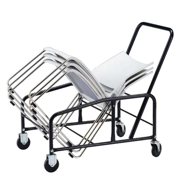 オフィスチェア(事務椅子)オプション ミーティングチェア(会議用)スタッキング椅子用専用台車 搭載可能数:25脚 外寸法:W59×D98.5×H87cm 積載可能数:25脚 自重(12.0)kg【お客様組立品】