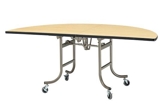 【送料無料】W1500φ1/2×H700mm 指挟み防止機能付フライトテーブル