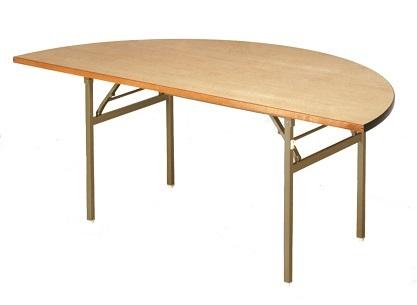 【送料無料】1800φ1/2×H700mm レセプションバネ脚折畳式テーブル